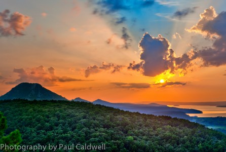 Sunset over Pinnacle Mountain State Park