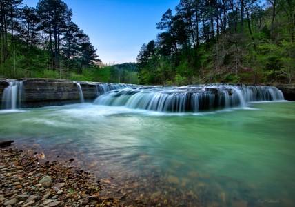 Haw Creek Falls in north central Arkansas ozark mountains