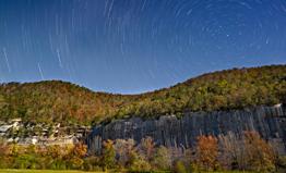 Star Trails over Roark Bluff