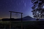 Area 51 and nighttime star trails in Pulaski County Arkansas
