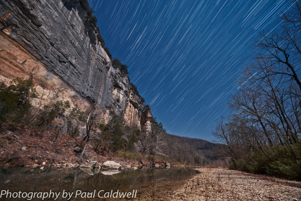 Night skies over Roark Bluff on the Buffalo River