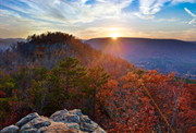 Sunset over Sams Throne in the Arkansas Ozarks