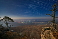 Star trails over Mt. Magazine