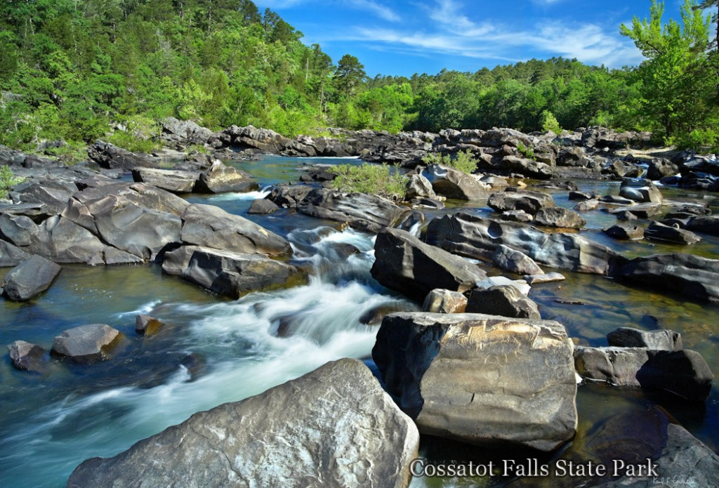 Cossatot Falls viewed from BMF rapid on the Cossatot River in Southwestern Arkansas
