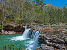 Springtime flow at Falling water creek in Arkansas