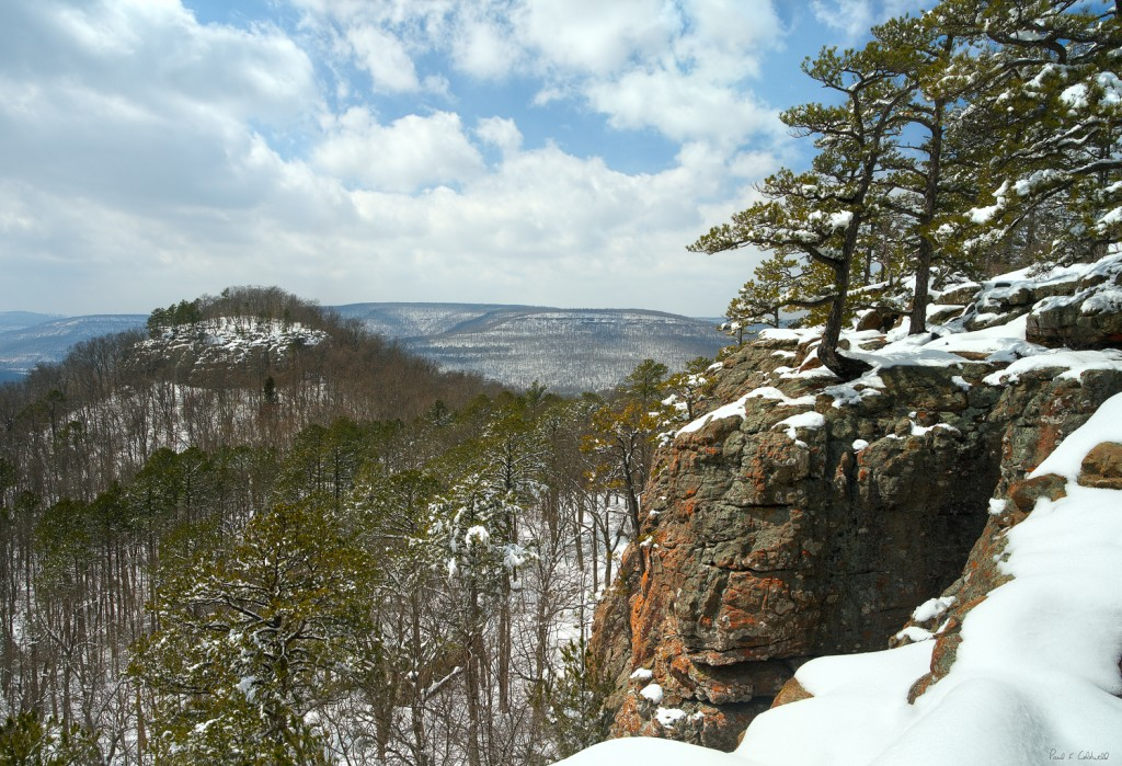 Winter vista of Sam's Throne in the Arkansas Ozarks