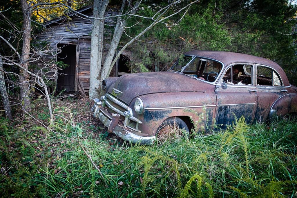 Old car along Hwy 123 near Lurton Arkansas