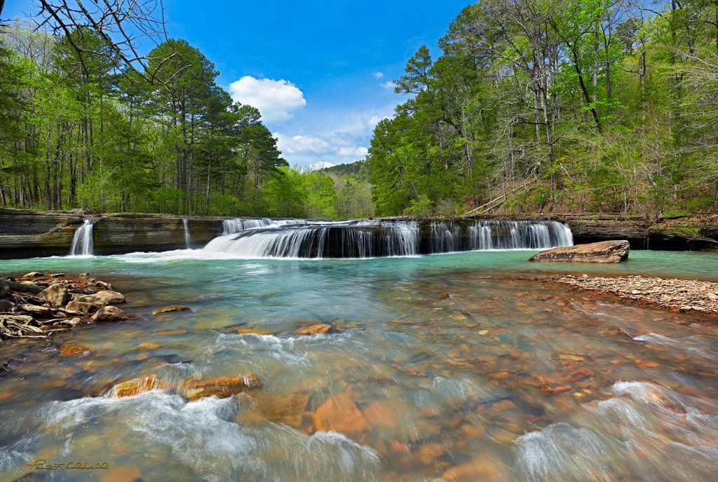 Springtime at Haw Creek Falls in the Arkansas Ozarks