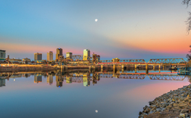 Downtown Little Rock at Sunrise