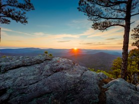 Flatside Pinnacle sunset wintertime