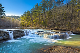 Haw Creek Falls Springtime Sunset