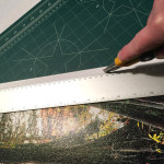 1.  Making the finishing cut against a ruler