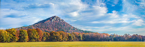 featured Fall scene at Pinnacle Mountain State park