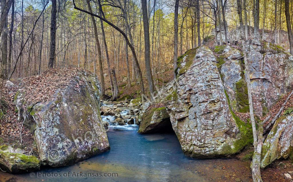 Wintertime scenery on White Oak Mountain near Hector Arkansas