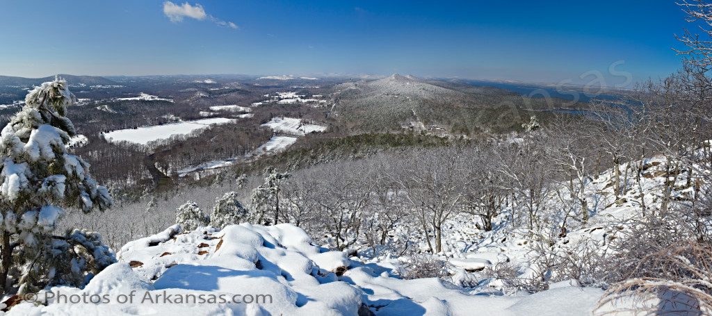 View from the summit of Pinnacle Mountain in Pulaski County Arkansas