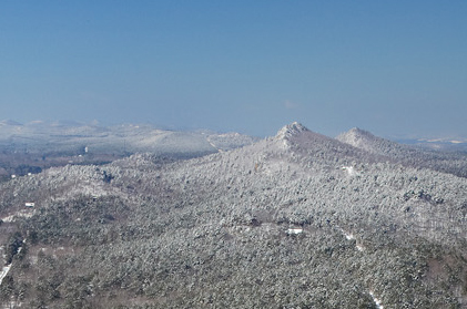 Pinnacle Mountain in western Pulaski County