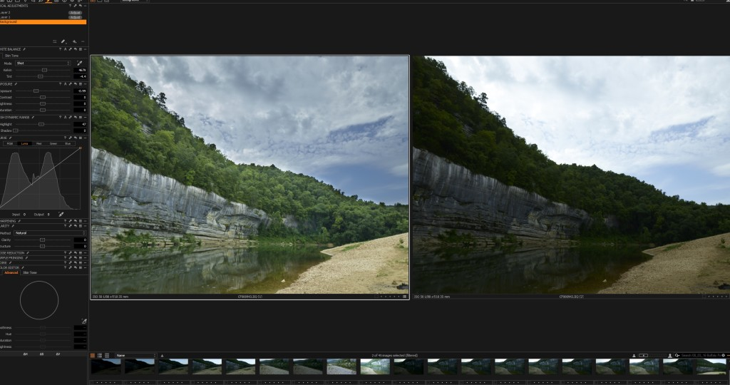 Screen shots of IQ100 image side by side
