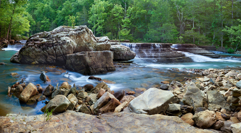 Late May on 6 finger falls in Newton County