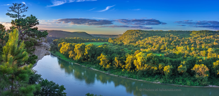 Sunset from Calico Rock on the White River in Arkansas