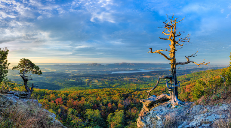 A view to the south from the summit of Mt Magazine, highest point in Arkansas